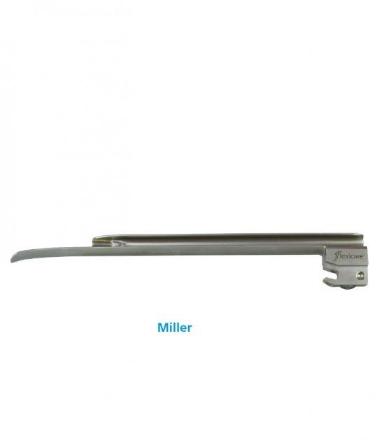 Клинки Miller для ларингоскопов Flexicare металлические фиброоптические многоразовые размер 4 - изображение 1