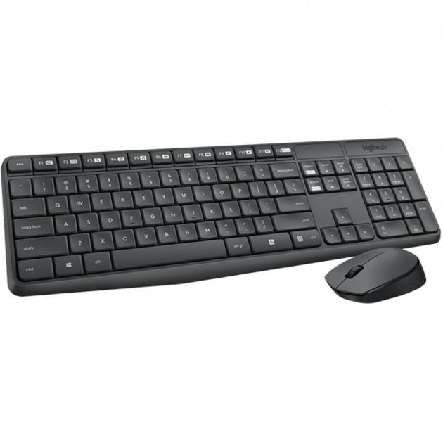 Комплект Logitech Wireless Desktop MK235 чорна USB (радіо, клавіатура+оптична миша) (920-007948) - зображення 1