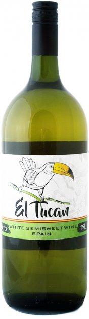 Вино El Tucan біле напівсолодке 1.5 л 11% (8422795001123) - зображення 1