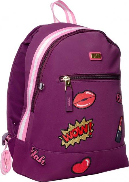 Рюкзак молодежный YES T-94 Tusa женский 0.5 кг 30x42x15 см 19 л Сливовый (558469) - изображение 1