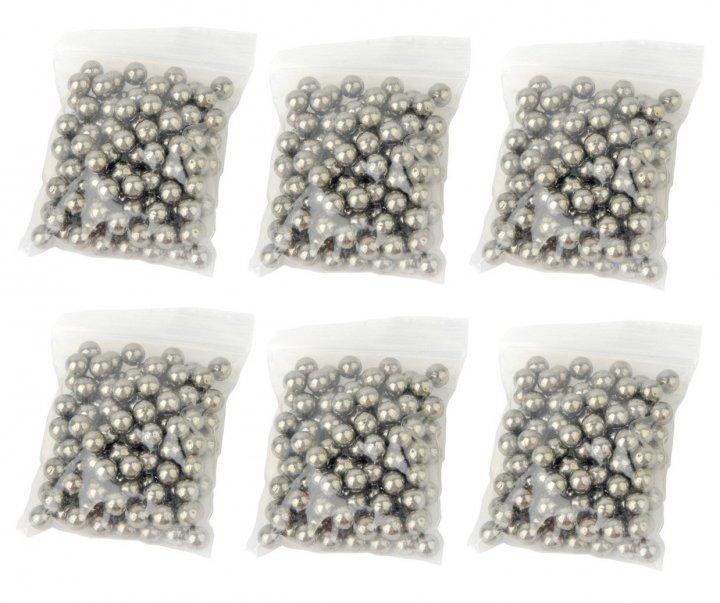 Металлические шарики для рогатки DEXT 8 мм сталь 6 упаковок (OK2215728914) - изображение 1