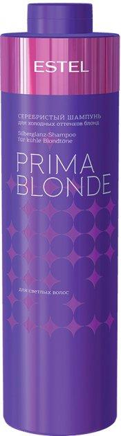 Сріблястий шампунь Estel Professional Prima Blonde для холодних відтінків блонд 1 л (4606453034140) - зображення 1