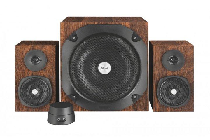 Акустическая система Trust Vigor 2.1 Subwoofer Speaker Set - brown(20244) - изображение 1