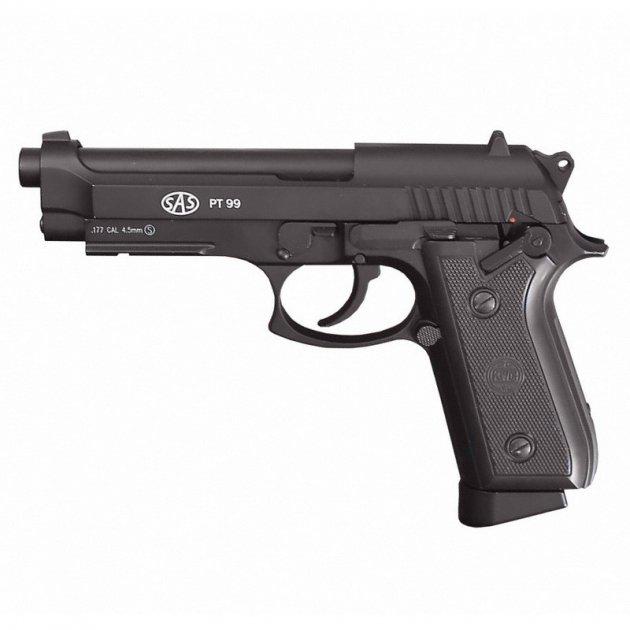 Пістолет пневматичний SAS (Taurus PT99) Blowback. Корпус - метал (2370.14.28) - зображення 1