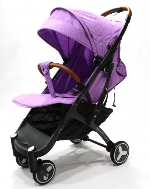 Детская прогулочная коляска YOYA PLUS 3 Фиолетовый (рама белая) - изображение 1