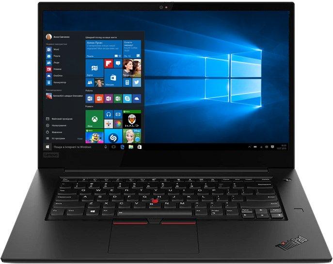 Ноутбук Lenovo ThinkPad X1 Extreme (2nd Gen) (20QV00CERT) Black - зображення 1