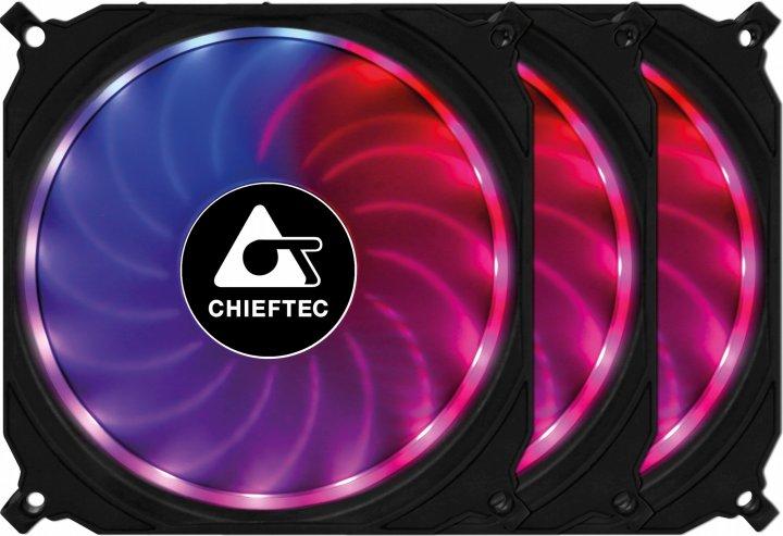 Набор Chieftec RGB-вентиляторов Tornado 3in1 (CF-3012-RGB) - изображение 1