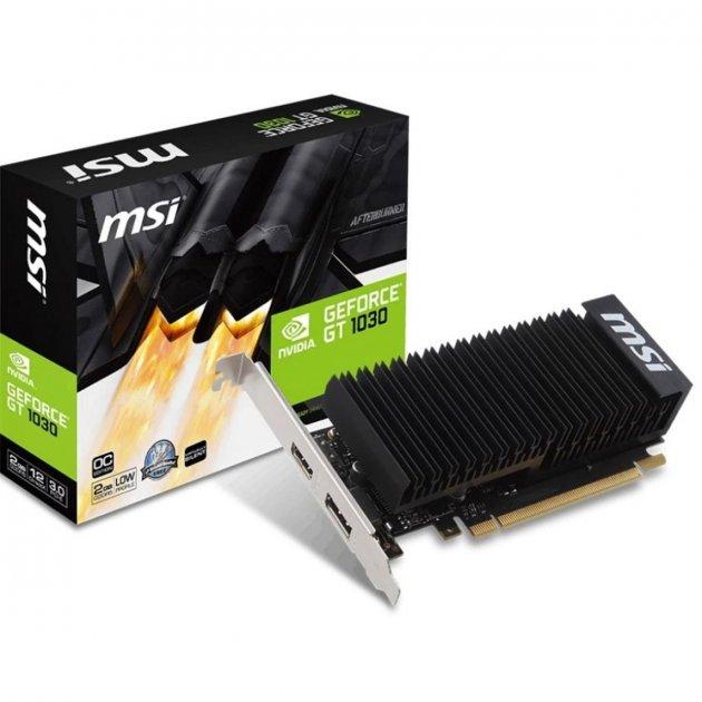 Видеокарта MSI GeForce GT1030 2048Mb Silent OC (GT 1030 2GH LP OC) - изображение 1