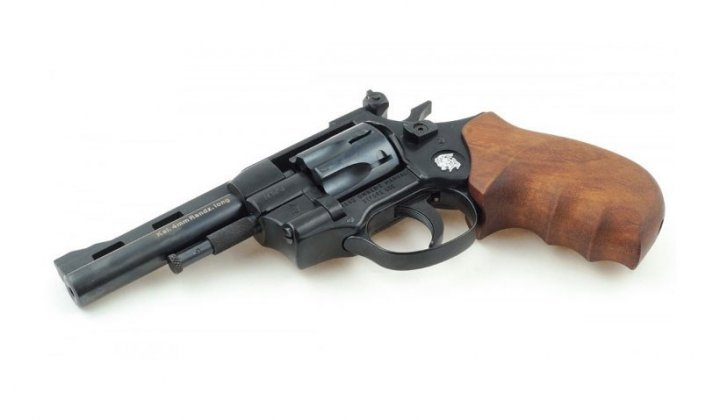 """Револьвер под патрон Флобера Weihrauch HW4 4"""" с деревянной рукоятью - изображение 1"""