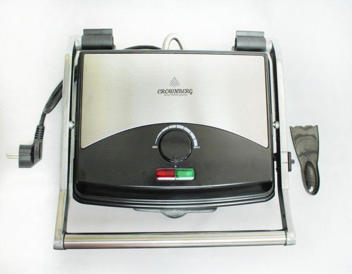 Гриль Crownberg CB 1067 2000 / Серебристый Черный - изображение 1