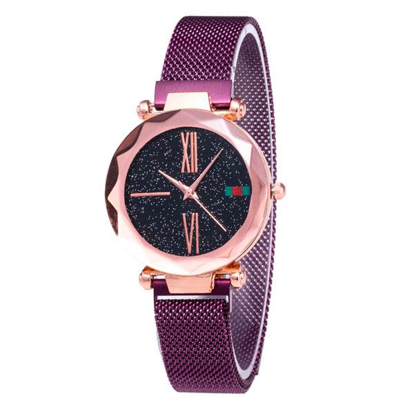 Женские часы Starry Sky Watch на магнитной застёжке Фиолетовые - изображение 1