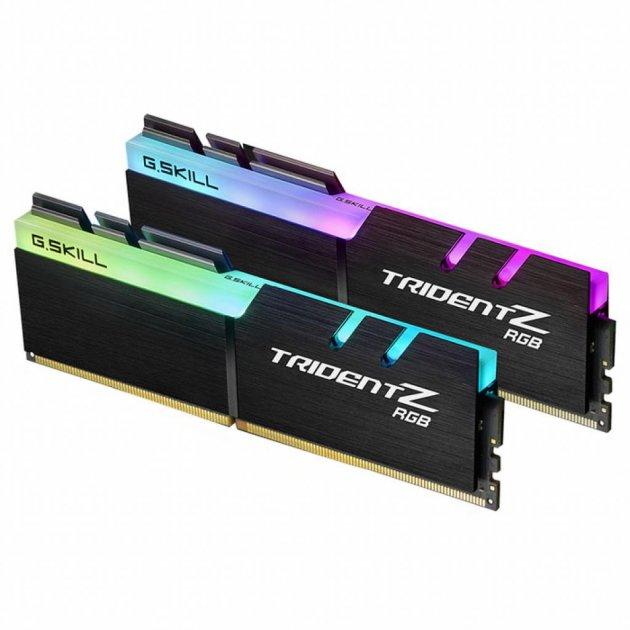 Модуль пам'яті для комп'ютера DDR4 16GB (2x8GB) 4133 MHz Trident Z RGB G. Skill (F4-4133C19D-16GTZR) - зображення 1