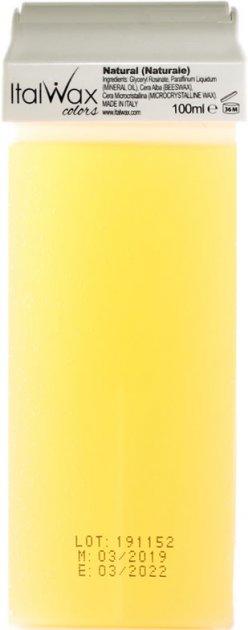 Воск для депиляции ItalWax Натуральный в картридже 100 мл (8032835160149) - изображение 1