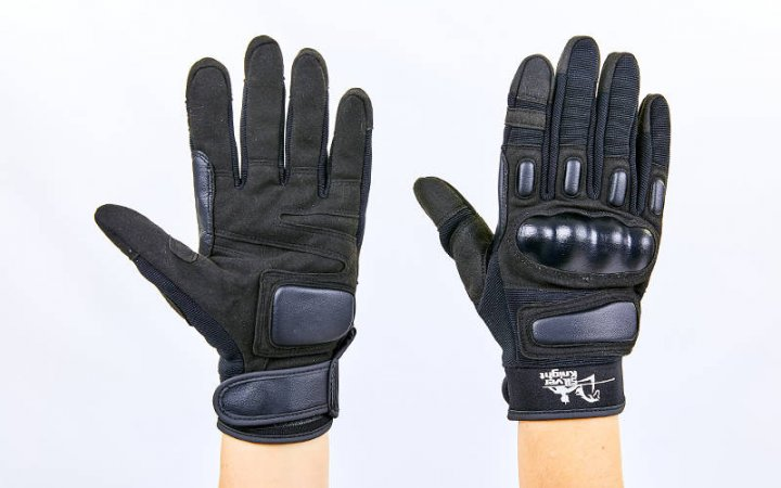 Перчатки тактические с закрытыми пальцами SILVER KNIGHT BC-7052 Черный L (MR03995) - изображение 1