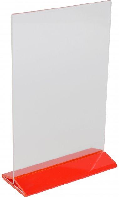 Менюхолдер Wissaider А5 вертикальный 149х210 мм красное основание (WiS-054)