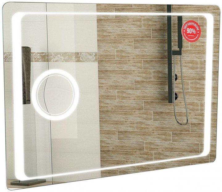 Зеркало AQUA RODOS Омега Люкс 80 см с линзой и LED-подсветкой - изображение 1