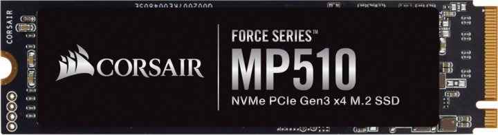 Накопичувач SSD Corsair Force Series MP510 240GB NVMe M. 2 2280 PCIe 3.0 3D NAND TLC (CSSD-F240GBMP510) - зображення 1