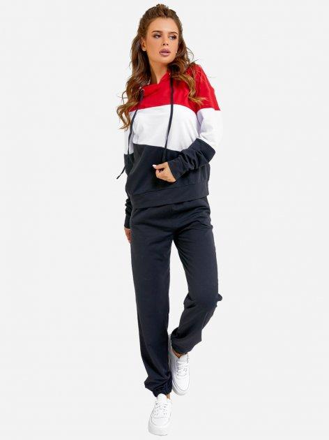Спортивный костюм ISSA PLUS SA-33 S Черный с красным (issa2000471148674) - изображение 1