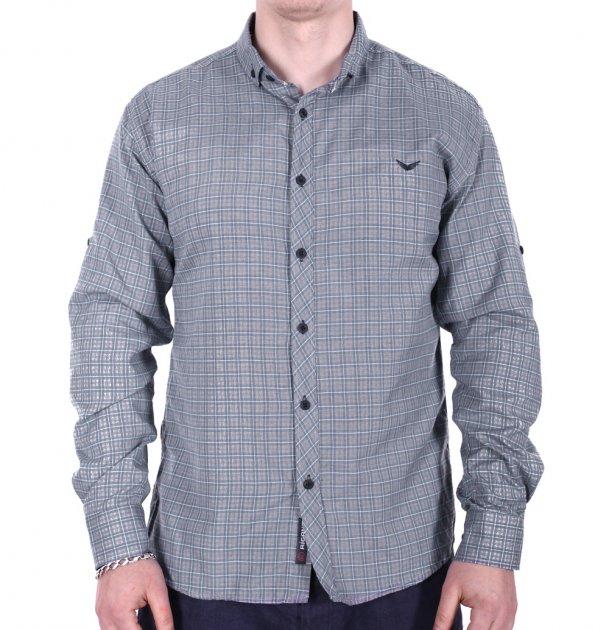 Рубашка большого размера Rigans b0218/2 серая 4XL - изображение 1