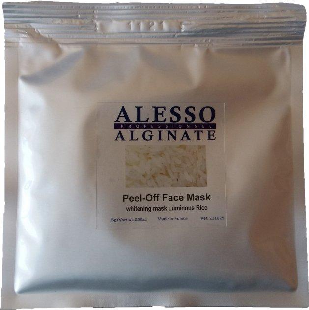 Альгинатная маска для лица Alesso с Рисом осветляющая 25 г (3273629211172) - изображение 1