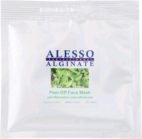 Альгинатная маска для лица Alesso с маслом Чайного дерева противовоспалительная 25 г (3273629234171) - изображение 1