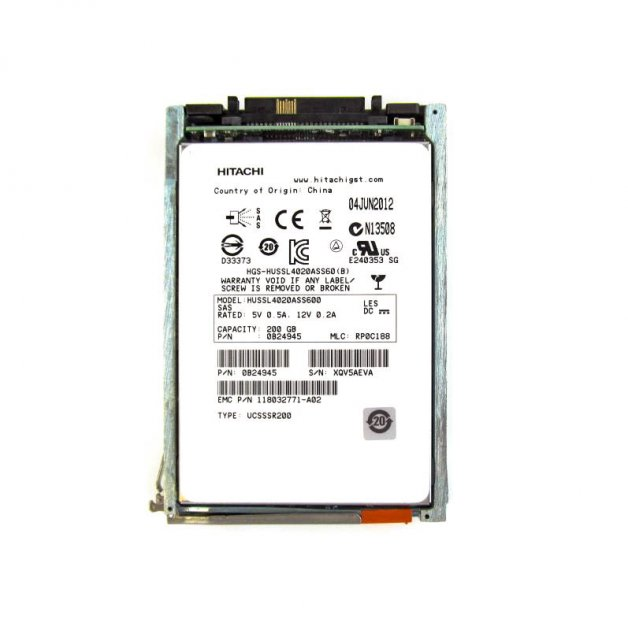 SSD EMC 200GB 2.5 in SAS SSD for VNX (FLV42S6FX-200) Refurbished - зображення 1