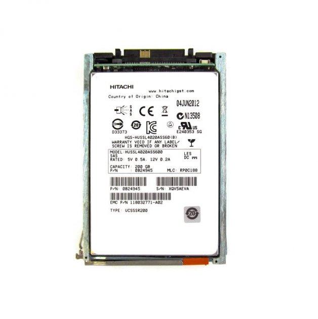 SSD EMC 200GB 2.5 in SAS SSD for VNX (V4-2S6F-200) Refurbished - зображення 1