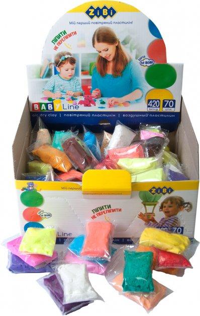 Набор воздушного пластилина ZiBi Baby Line 70 шт 24 цвета (ZB.6255) (4823078932785) - изображение 1