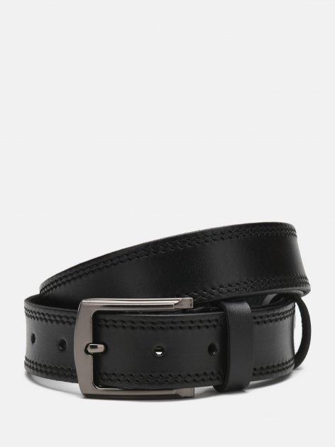 Мужской кожаный ремень Laras Cvgnn16-125 125 см Черный (ROZ6400018306) - изображение 1