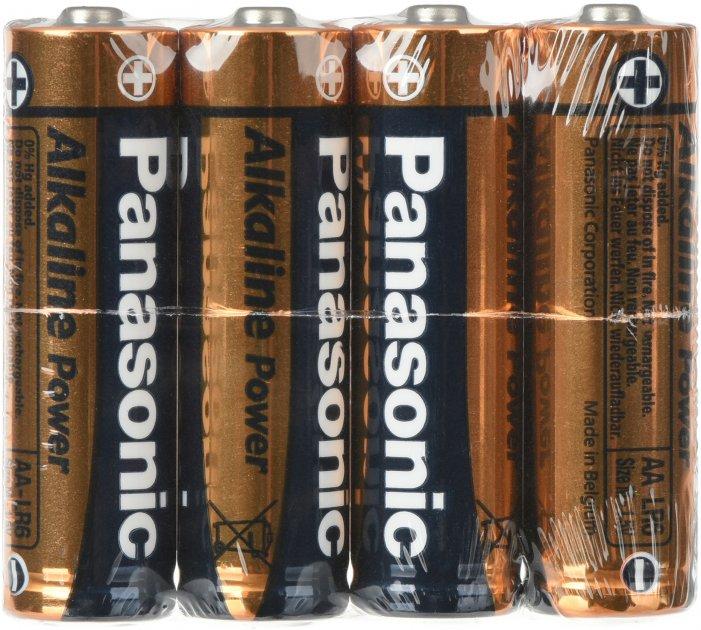 Батарейки Panasonic Alkaline Power щелочные AA пленка, 4 шт (LR6APB/4P) - изображение 1
