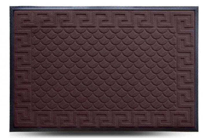 Коврик придверный Dariana MX, коричневый, 80х120 см - изображение 1