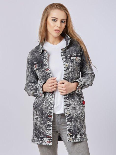 Джинсовая куртка Mila Nova Q-31 50 Черная (2000000012698) - изображение 1