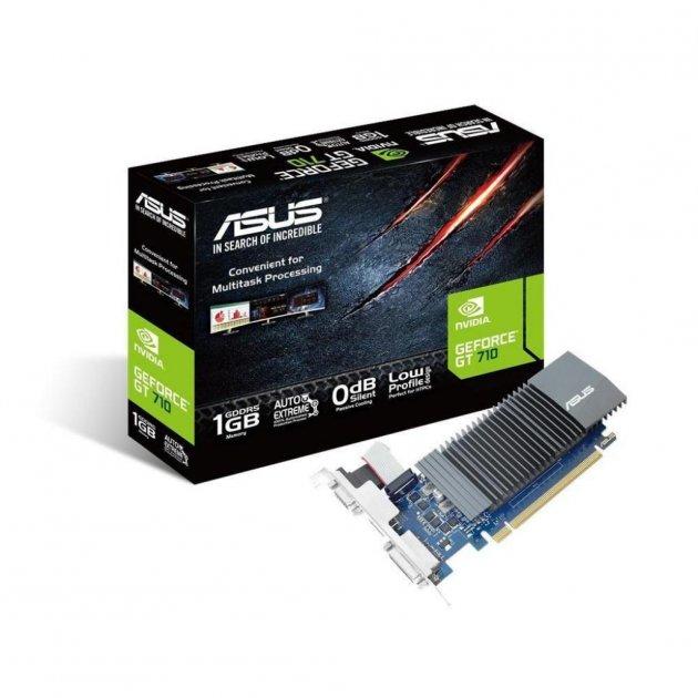 Видеокарта ASUS GeForce GT710 1024Mb Silent + BRK (GT710-SL-1GD5-BRK) - изображение 1