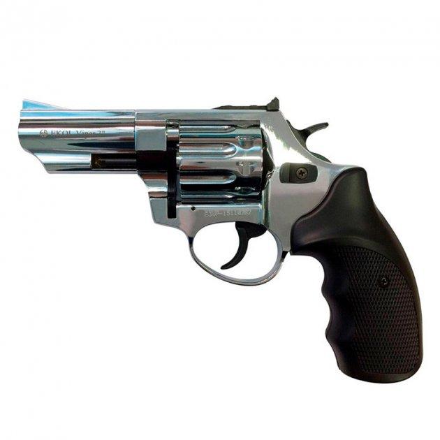 """Револьвер під патрон Флобера EKOL Viper (3.0"""", 4.0 мм), яскравий хром - зображення 1"""