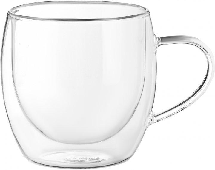 Набор чашек Ardesto с двойными стенками 300 мл 2 шт (AR2630GHN) - изображение 1