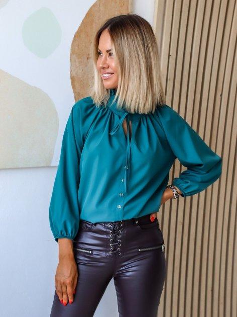 Блуза DNKA р41498/1 54-56 Бирюзовая (2000000515403) - изображение 1