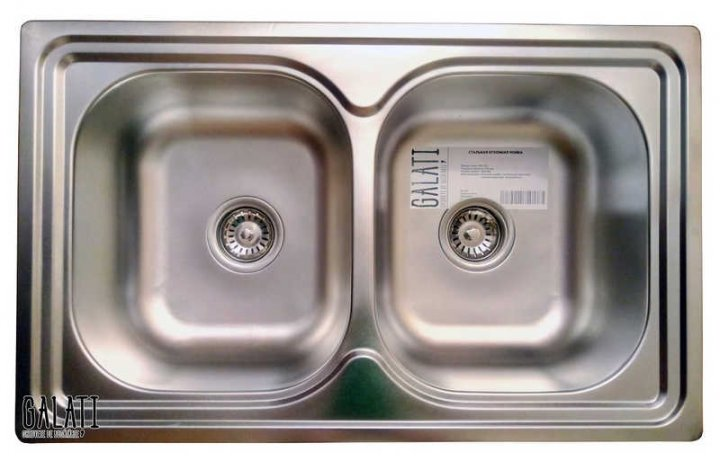 Кухонна мийка Galati Fifika 2C Satin (4015) - зображення 1