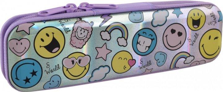 Пенал Yes Smiley world металлический 1 отделение Разноцветный (532282) - изображение 1