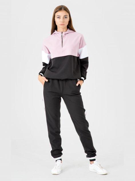 Спортивный костюм Santali 4005 M Черный/Сирень (7000000083600) - изображение 1