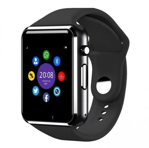 Розумні Годинник Uwatch А1 Smart Watch Чорні - зображення 1