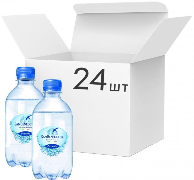 Упаковка минеральной воды San Benedetto газированной 0.33 л х 24 бутылки (8001620013373) - изображение 1