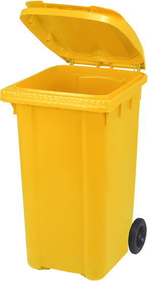 Мусорный контейнер GEOPALL 1050х570х725 мм 240 л Желтый (PRR240YL)