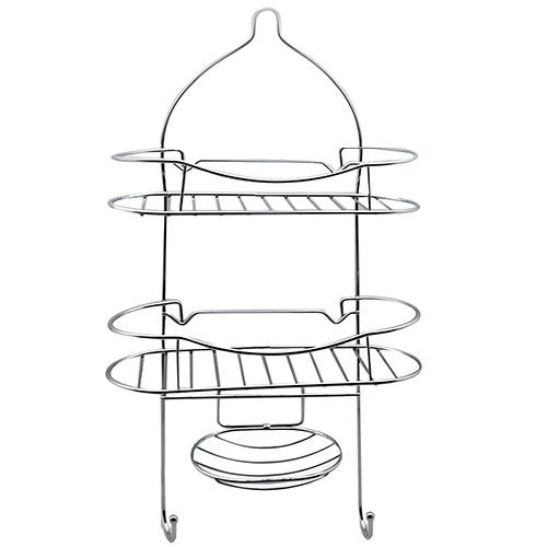 Полка для ванной 2-х ярусная Stenson R-84832 62х28х11 см - изображение 1