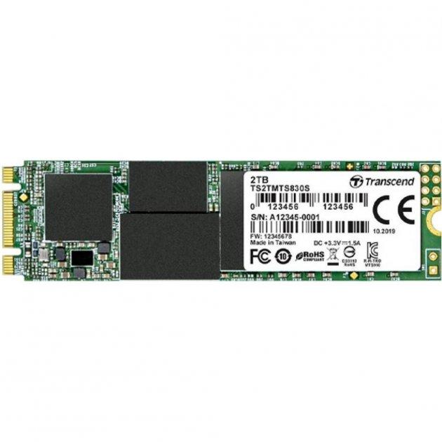 SSD накопитель TRANSCEND MTS830S 2TB M.2 SATA 3D TLC (TS2TMTS830S) - изображение 1