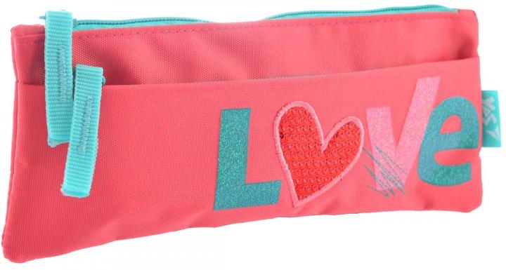 Пенал Yes Love мягкий 2 отделения Розовый (532365) - изображение 1