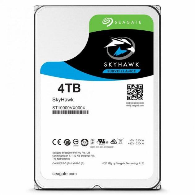 Накопитель HDD SATA 4.0TB Seagate SkyHawk Surveillance 64MB (ST4000VX007) - изображение 1