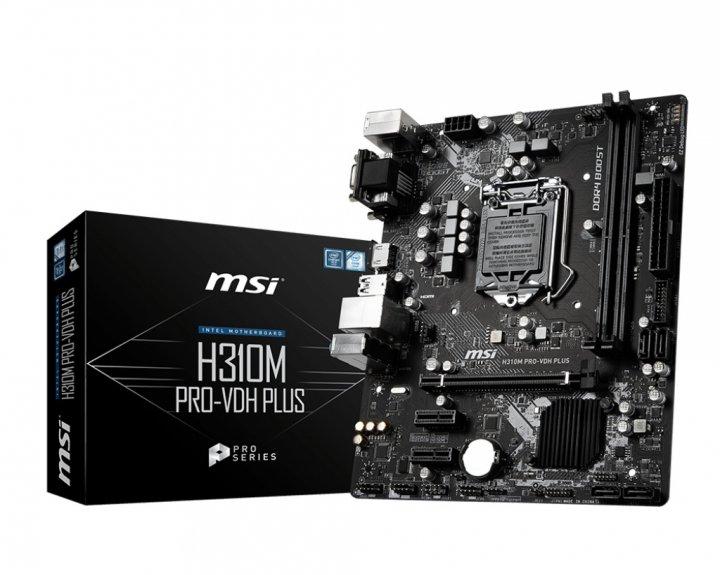 Материнська плата MSI H310M PRO-VDH Plus Socket 1151 - зображення 1