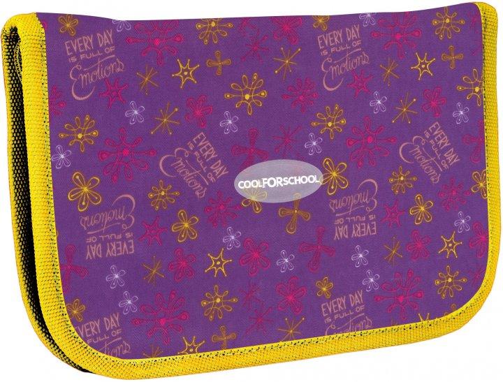 Пенал Сool For School Summer 1 отделение Фиолетовый (CF86634) - изображение 1