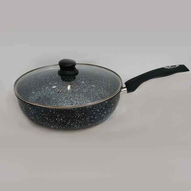 Сковорода с крышкой 26 см Benson BN-516 - изображение 1