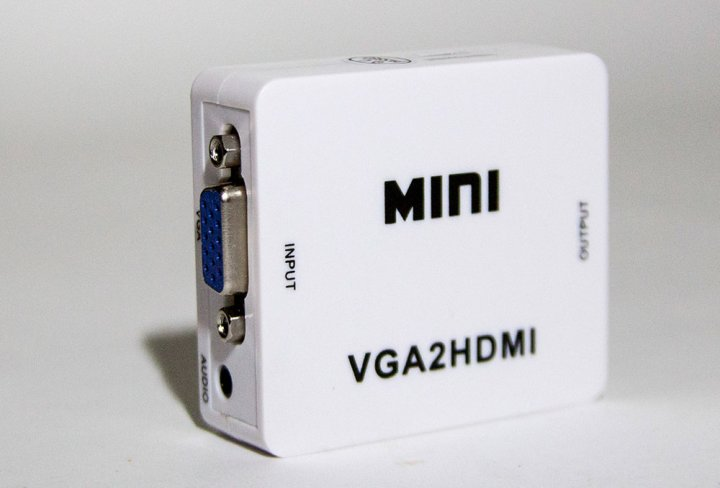 Перехідник VGA HDMI конвертер для ПК, ноутбука, відео реєстратора адаптер перетворювач з аудіо і зовнішнім живленням HDMI - VGA VGA2HDMI( AY28 ) - зображення 1